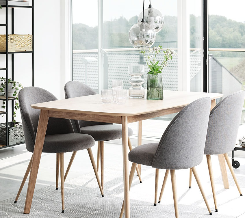 Comfy dining chairs at a dining table