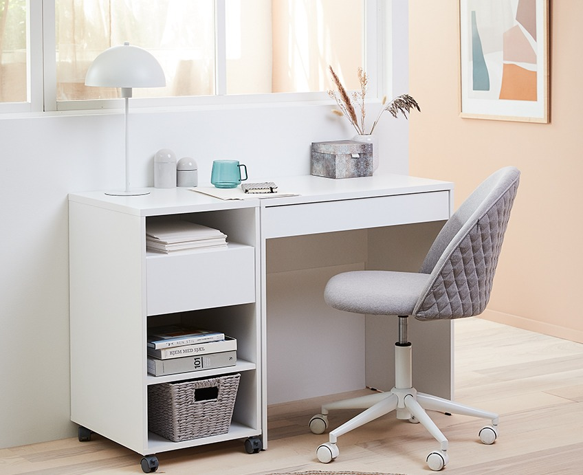 Home office with office desk and office chair