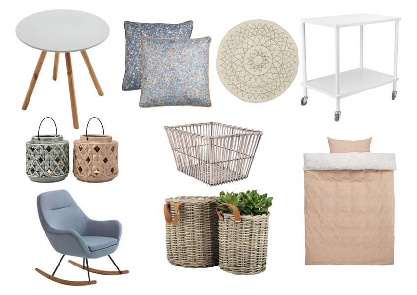 Examples of items reflecting the Hygge trend